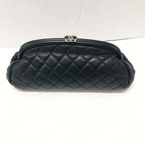 Chanel kiss lock clutch bag